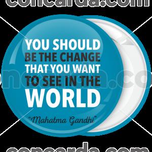 Μπλε Κονκάρδα Gandhi Quotes Horizontal