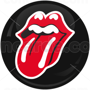 Κονκάρδα Rolling Stones mouth black