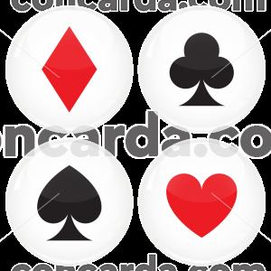 Κονκάρδες Blackjack Poker σετ 4 τεμάχια