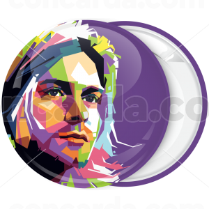 Rock Κονκάρδα Kurt Cobain Art pink