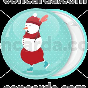 Κονκάρδα Χριστουγέννων Χιονάνθρωπος πατινάζ