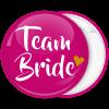 Kονκάρδα ροζ Team Bride χρυσή καρδιά
