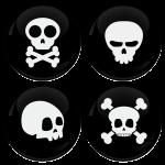 Κονκάρδες Skulls σετ 4 τεμάχια