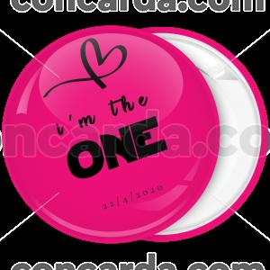 Κονκάρδα νύφης I am the one ροζ