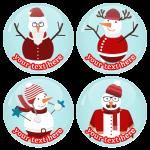 Χριστουγεννιάτικες κονκάρδες χιονάνθρωποι στα κόκκινα
