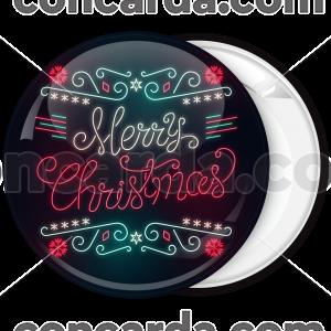 Κονκάρδα Merry Christmas neon lights