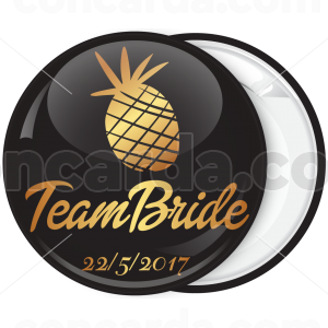 Kονκάρδα bachelorette Team Bride ανανάς χρυσή κολεξιόν