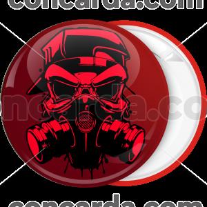 Κονκάρδα hazard mask red