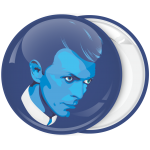Κονκάρδα David Bowie face μπλέ