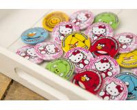 Κονκάρδες παιδικού πάρτυ Angry Birds & Hello Kitty