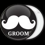 Κονκάρδα γάμου Groom Mustache