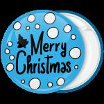 Κονκάρδα Χριστουγέννων blue Merry Christmas