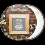 Κονκάρδα Χριστουγεννιάτικο Photo booth Merry Christmas wood frame