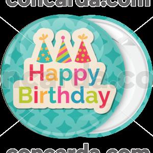 Κονκάρδα γενεθλίων Happy birthday colourful hats