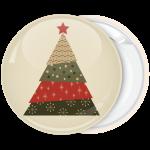 Κονκάρδα Χριστουγέννων Christmas Tree red star