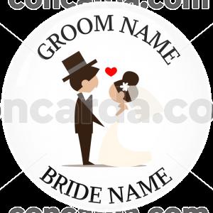 Κονκάρδα γάμου ονόματα ζευγαριού love