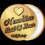 Kονκάρδα bachelorette Maid of honor χρυσή κολεξιόν