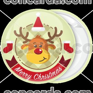 Κονκάρδα Χριστουγέννων ελάφι Merry Christmas
