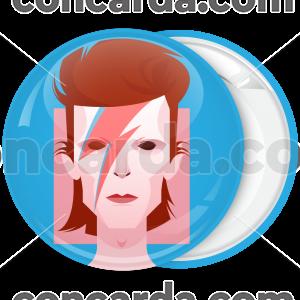 Κονκάρδα David Bowie τετράγωνο πρόσωπο αστραπή