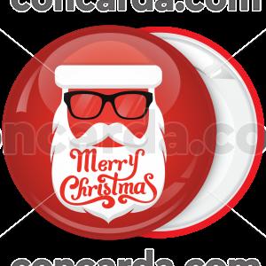 Κονκάρδα Χριστουγέννων Santa with glass