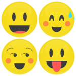 Smiley κονκάρδες dizzy - σετ 4 τεμάχια