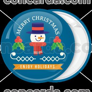 Χριστουγεννιάτικη κονκάρδα Enjoy Holidays snowman