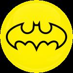 Κονκάρδα Batman logo κίτρινο