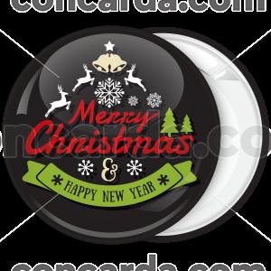 Κονκάρδα Χριστουγέννων Merry Christmas calligraphy