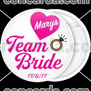 Kονκάρδα bachelorette Team Bride Ring ροζ γράμματα