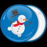 Κονκάρδα Χριστουγέννων Χιονάνθρωπος χορευτής