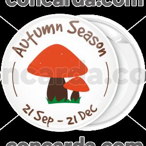 Κονκάρδα Autumn season κόκκινα μανιτάρια