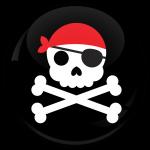Κονκάρδα Pirate Skull