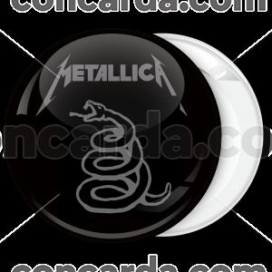 Metallica music heavy metal band badge black album