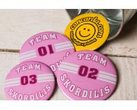 Διαφημιστικές κονκάρδες Team Skordilis