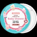 Κονκάρδα πρόσκληση σε baby shower it is a girl