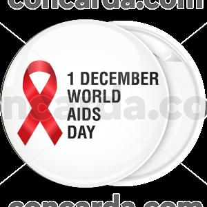 Κονκάρδα Aids world Aids day red ribbon