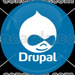 Κονκάρδα Drupal μπλε