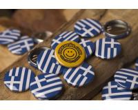 Τουριστικές κονκάρδες Ελληνική σημαία