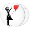 Κονκάρδα Banksy Love Balloon girl