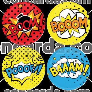 Σετ κονκάρδες baam boom 4 τεμάχια