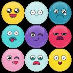 Κονκάρδες emoticons avatar collection σετ 9 τεμάχια