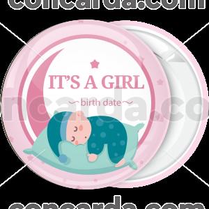 Κονκάρδα για γέννηση It is a girl baby sleeping