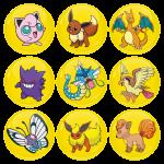 Κονκάρδες σετ 9 τεμαχίων Pokemon Jigglypuff and friends Collection
