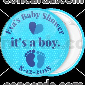 Κονκάρδα baby shower its a boy πουά