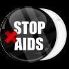 Κονκάρδα stop Aids μαύρη