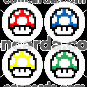 Σετ 4 κονκάρδες super mario mushroom classic