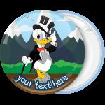 Κονκάρδα βάπτισης Donald Duck groom