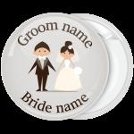 Κονκάρδα γάμου smart couple λευκή