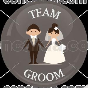 Κονκάρδα γάμου Team Groom