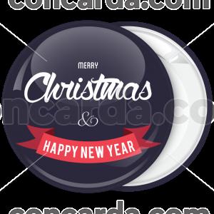 Κονκάρδα Merry Christmas simple wish